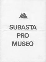 Subasta Pro Museo Catálogo