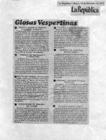La Republica-Glosas Vespertinas Polémica