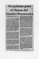 Aplauso Para El Museo Del Hombre Panameño