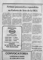 O.E.A.-La Estrella De Panamá Anuncio