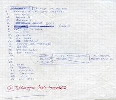 Listas Obras