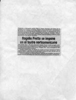 Rogelio Pretto Se Impone En El Teatro Norteamericano-anuncio