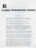 Julio Cesar-Florida Shakespeare Festival-fact Sheet