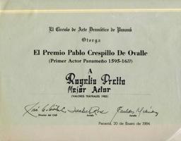 Premio-Círculo De Arte Dramático De Panamá